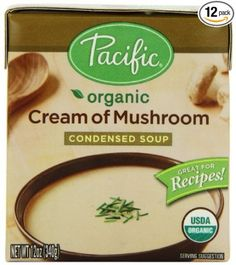 Pacific Cream of Mushroom Condensed Soup (Organic, Gluten Free, BPA Free, Soy Free)