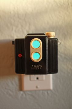 Vintage Camera Nightlight Ansco Panda by jayfish on Etsy.  Loving all of them.