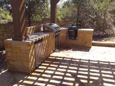 Outdoor #stone #kitchen by DH Landscape Design