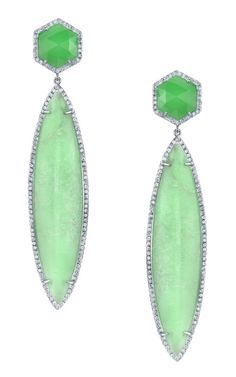 Irene Neuwirth Mint Drop earrings.