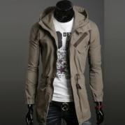 Casual Vintage Long Hoodie Jacket