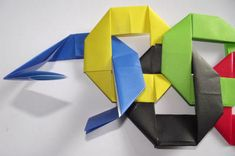 Origami Olympic Rings  Have some fun with this clever origami Olympic rings craft for kids.
