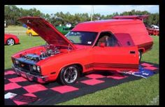 Red Ford Aussie Muscle Cars, Old School Vans, Australian Cars, Ford Falcon, Custom Vans, Falcons, Cool Cars, Project Ideas, Dream Cars