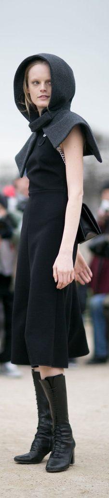 Model Hanne Gaby at PFW.