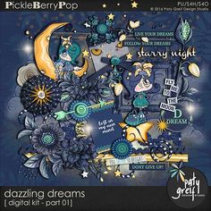 "Dazzling Dreams ""Digital Kit Part-01"" by Paty Greif"