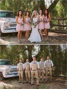 Pink and beige wedding party. is in the wedding party Pink and Gold Cuban Wedding Beige Wedding, Casual Wedding, Wedding Men, Wedding Pics, Wedding Bells, Dream Wedding, Country Wedding Groomsmen, Tan Wedding Suits, Country Weddings