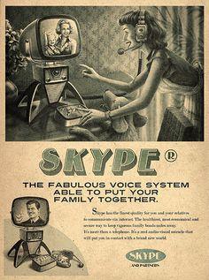 Retro Future Ad for Skype !!!  I wondered where they got their name!
