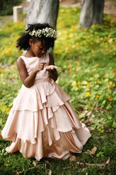 Flower Girl Dress Feature on Style Me Pretty | Dresses by KirstieKelly.com | Photography: Belathee Photography