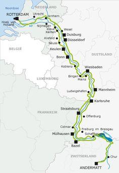 the source of the Rhine to the North Sea: The RHINE ROUTE bike trip :) 4 countries Andermatt, Rando Velo, La Provence France, Voyage Rome, River Cruises In Europe, Adventure Of The Seas, North Sea, Bike Trails, Biking