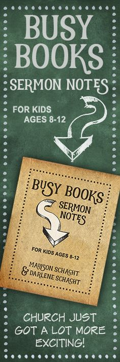 Busy Books Sermon Notes for Kids.