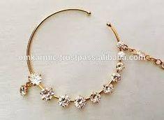Gold Nose Ring Design For Bride - Engagement Ring Ideas Nath Nose Ring, Bridal Nose Ring, Gold Nose Rings, Nose Ring Designs, Pearl Chain, Engagement Rings, Bride, Pearls, Diamond