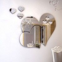 Home | Removable 3D DIY Room Decal Mirror Wall Sticker Mural Decor Love Hearts/Lip