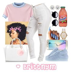 """""""@Brittnym <3"""" by brittnym ❤ liked on Polyvore featuring MICHAEL Michael Kors, Samsung, WithChic, adidas, Michael Kors and RAJ"""