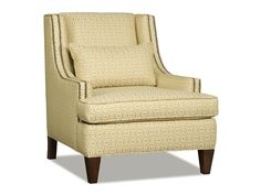 Shop for Sam Moore Holden Wing Chair, 2252, and other Living Room Chairs at Ariana Home Furnishings in Cumming, GA. This wing chair comes standard with a deluxe seat cushion, kidney pillow, welt and 1/2'' brass nailhead trim.