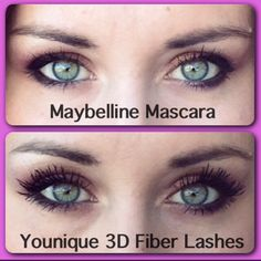Maybelline vs. Younique 3D Fiber Lashes.  Chemical Free from Younique and good for your skin. It's a no brainer. www.christinasfablashes.com