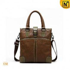Leather Bags Men's Designer Contrast Leather Shoulder Bags Handbags CW980045 - m.cwmalls.com