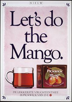 Let's do the mango. De lekkerste vruchtenthee is Pickwik van DE.