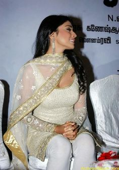 Shriya Saran Hot Pics In White Churidar Actress Hot Photos1