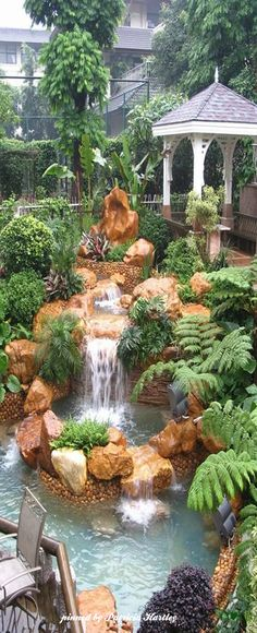 Gorgeous Backyard Waterfall
