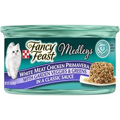 Fancy Feast Wet Cat Food, Elegant Medleys, White Meat Chicken Primavera with Garden Veggie and Greens in a Classic Sauce - (24) 3 oz. Cans ** Find out @