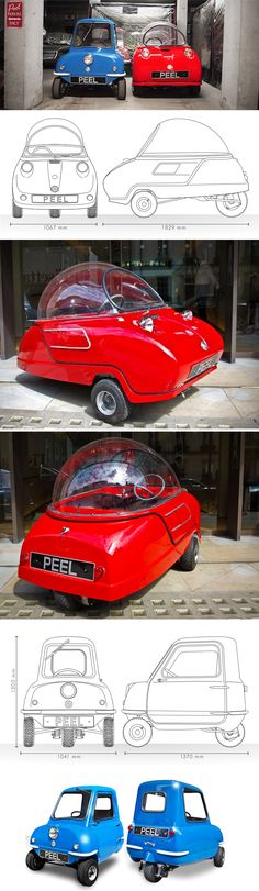 Trident & P-50 - Peel microcars perhaps tried to be .. but .. 3W ok ...