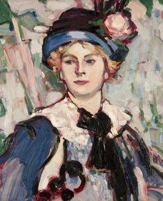 John Duncan Fergusson - The Pink Parasol, Bertha Case, 1908 L'art Du Portrait, Portraits, Paintings I Love, Your Paintings, Edinburgh, John Duncan, Glasgow Museum, English Artists, Art Uk