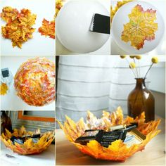 DIY Creative Autumn Leaf Decorative Bowl