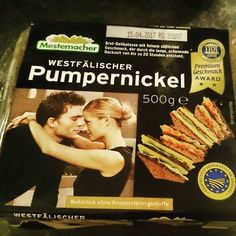 Local Westfälischer Pumpernickel. I do love that word 'Pumpernickel'. :D