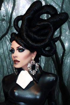 Yara Sofia! She's fabulous! Drag Queen Makeup, Drag Makeup, Hair Makeup, Makeup Art, Drag Queens, Hair Rainbow, Avant Garde Hair, Fantasy Hair, Fantasy Makeup