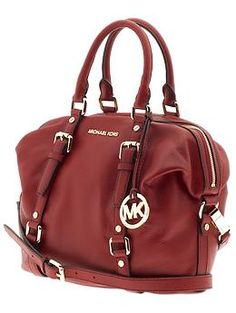 In love with this red Michael Kors bag