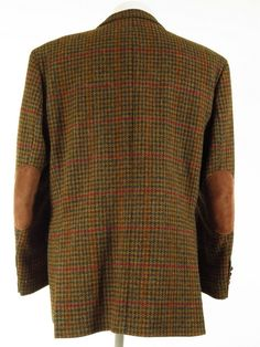 Mens Harris Tweed Jacket, Tweed Jackets, Tassel Loafers, Elbow Patches, Leather Cover, Covered Buttons, Vintage Outfits, Men Sweater, Pure Products