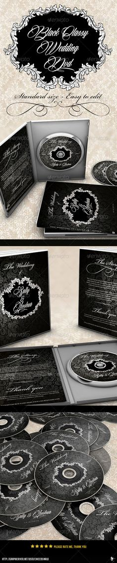 Classy Black Wedding Dvd Label