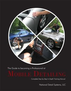The Guide to Becoming a Professional at Mobile Detailing has been developed with the entrepreneurial detailer in mind. It provides comprehensive instruction on professional, thorough auto detailing procedures which can be used as the basis for a professional elite auto detailing business. It also gives tips on how to grow your business while gaining and retaining satisfied clients.