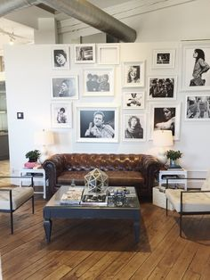 Salon gallery wall.