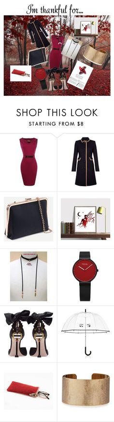 """""""Autumn fashion style with burgundy & black"""" by andycollectionjewels on Polyvore featuring Hobbs, Miu Miu, Kate Spade, Panacea and imthankfulfor"""