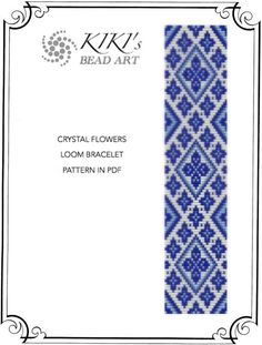 Bead loom pattern - Crystal flowers LOOM bracelet pattern in PDF instant download