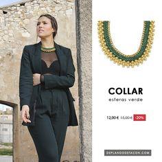 Aprovecha nuestro 20% de DESCUENTO en artículos seleccionados. 📢  🐢 Collar Bolas Verde (11,95€) 🐢 Consíguelo en nuestra Tienda Online 👉 www.deplanoodetacon.com