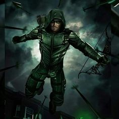 Arrow Tv Series, Cw Series, Arrow Serie, Batman And Superman, Green Arrow Logo, Green Arrow Cw, Arrow Flash, Green Arrow Comics, Character Art