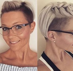 Fanny Roly Short Hairstyles – 9 - Home Pompadour Hairstyle, Undercut Hairstyles, Pixie Hairstyles, Pixie Haircut, Cute Hairstyles, Wedding Hairstyles, Badass Haircut, Pelo Pixie, Edgy Hair