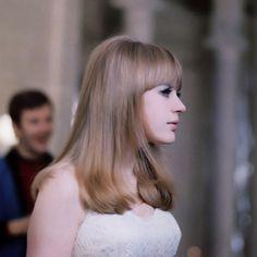 "faithfullforever:  Marianne Faithfull in a production still of the film ""Anna"" | 1967"