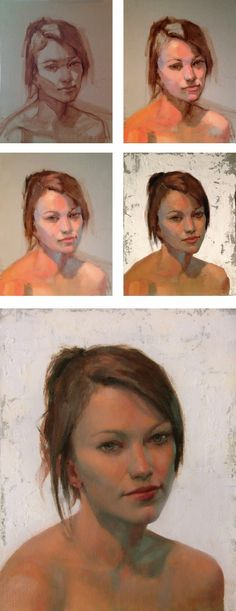 Here are some photos from the portrait painting with a full palette workshop that I taught at The Lake Country Art House  this summer.  It ... #OilPaintingPortrait