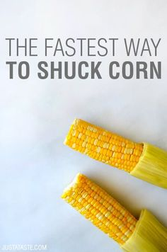 Video The Fastest Way to Shuck Corn Just a Taste is part of Shucking corn - Learn a simple kitchen hack to shuck corn in seconds without a single strand of silk in sight Simple Corn Fritter Recipe, Corn Fritter Recipes, Corn Recipe, Easy Corn Fritters, Zucchini Fritters, Vegetable Side Dishes, Vegetable Recipes, Book Club Food, Shuck Corn