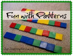 Fun ideas to work with patterns from K-6th grade