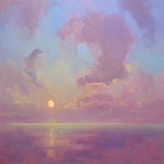 Timon Sloane paints luminous contemporary landscape paintings that glow as if lit from within. Aesthetic Painting, Aesthetic Art, Painting Inspiration, Art Inspo, Arte Sketchbook, Sky Painting, Abstract Oil, Pretty Art, Landscape Paintings