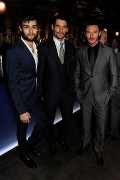 Douglas Booth, David Gandy and Luke Evans.