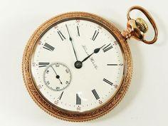 Mega Rare Antique 18s Rail Road 23J Hampden New Railway Gold Pocket Watch 1906 #Hampden