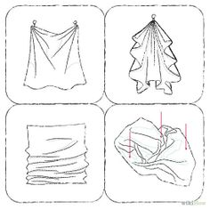 How to draw fabric clothes drawing tutorial