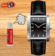 Wrist Watch Bands. Apply Squelch to watch bands to eliminate foul stench.