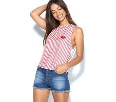 Blúzka bez rukávov, so štrasom | modino.sk #ModinoSK #modino_sk #modino_style #style #fashion #summer #top Basic Tank Top, Boho, Tank Tops, Women, Fashion, Moda, Halter Tops, Bohemian, Fasion