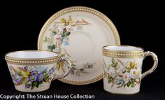 Royal Worcester trio teacup coffee cup saucer SOLD TO UK BUYER - The Struan House Collection